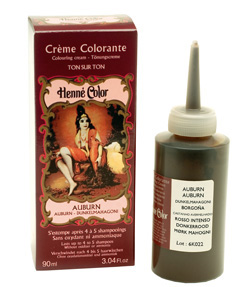 Henné, creme colorante auburn 90ml