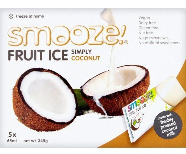 gelados vegan, sem glúten, sem lactose - côco