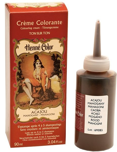 Henné, creme colorante acajou 90ml