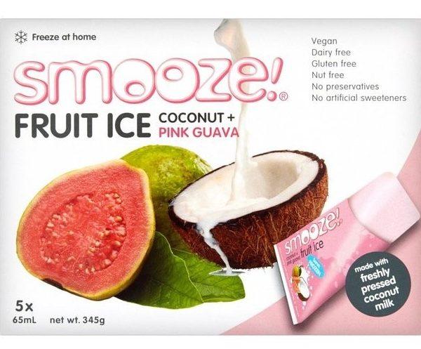 gelados vegan, sem glúten, sem lactose - goiaba e côco