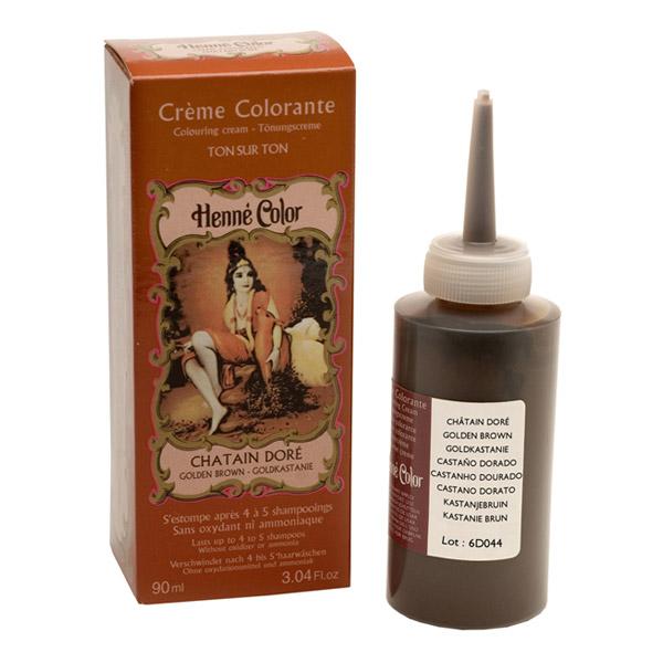 Henné, creme colorante, castanho dourado 90ml