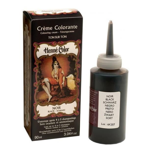 Henné, creme colorante, preto 90ml