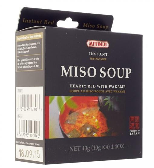sopa de miso com alga wakame, mitoku