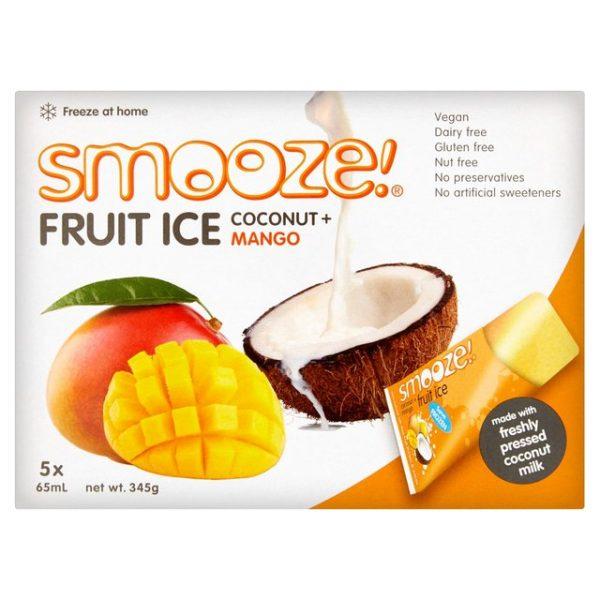 gelados vegan, sem glúten, sem lactose - manga e côco