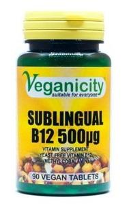 Vitamina B12 sublingual 500ug, Veganicity
