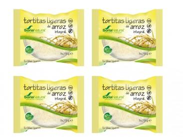 panquecas ligeiras de arroz bio, soria natural