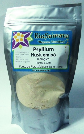 Psyllium Husk em pó bio 250g, Biosamara