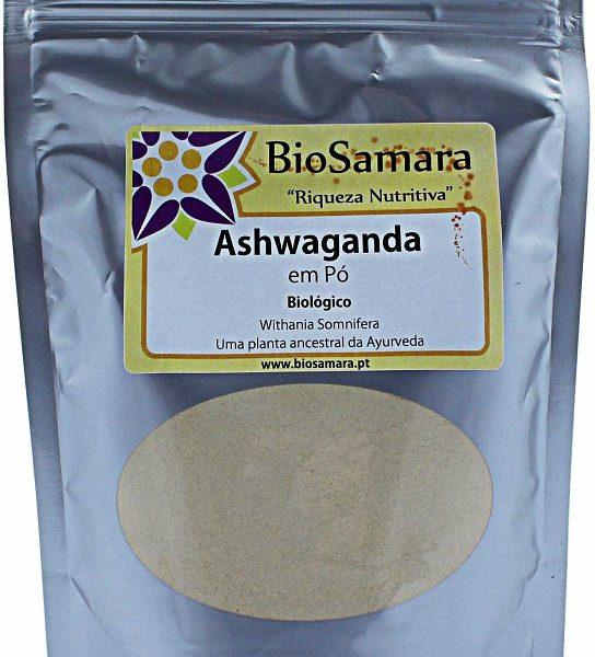 Ashwagandha pó biológica,125g, Biosamara