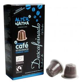 Descafeinado biol., em cápsulas máq. Nespresso