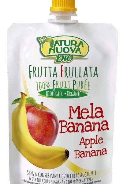 Puré de maçã e banana Bio, doypack