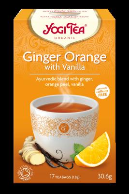 chá gengibre e laranja, yogi tea
