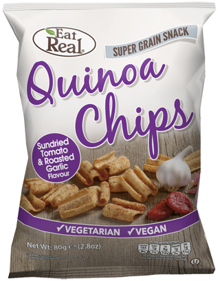 Snack de quinoa, tomate e alho, vegan - Eat Real