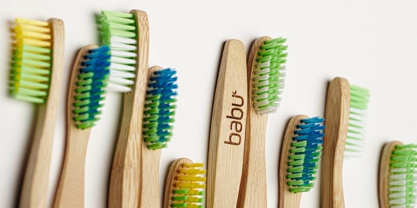 Escova de dentes em bambu, cerdas extra suaves, Babu