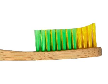 Escova de dentes em bambu, cerdas suaves, Babu