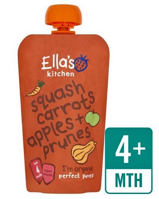 Puré cenouras, maçãs e ameixas , Bio, sem glúten