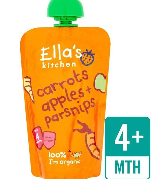 Puré cenoura, maçã e pastinaca, Bio, sem glúten