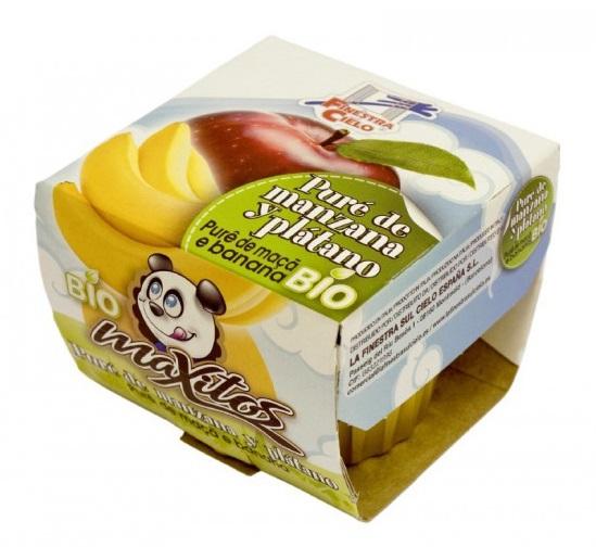 Puré de maçã e banana Bio, Maxitos