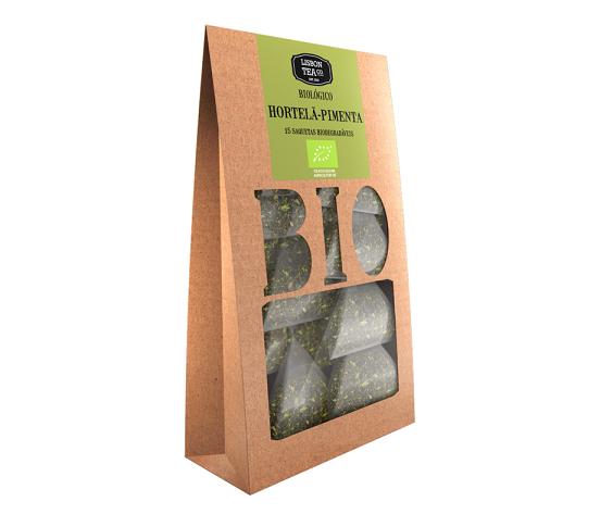 Chá hortelã-pimenta bio em saquetas, Lisbon Tea Co.