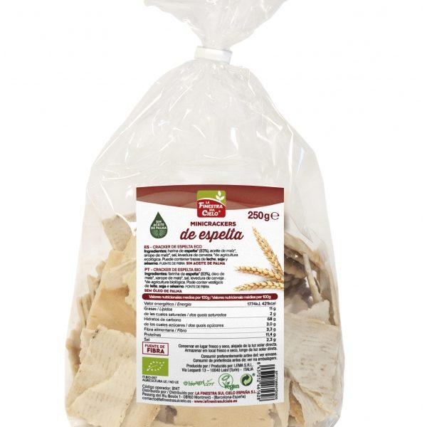 Mini Crackers de espelta, biológicas