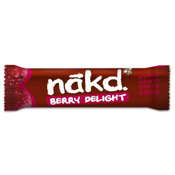 Barra Nakd raw, Bagas vermelhas, sem gluten