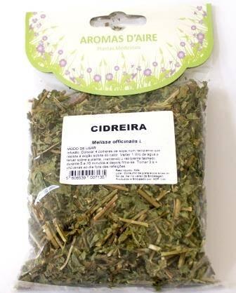 Chá de Cidreira (Melissa), Aromas d'aire