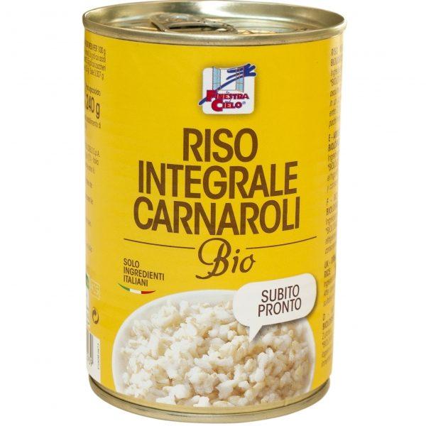 Arroz integral carnaroli, biológico, em lata