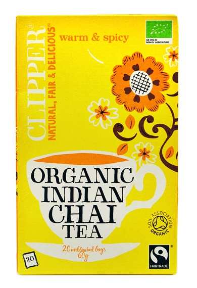 chá indiano chai biológico, 20 saquetas, clipper