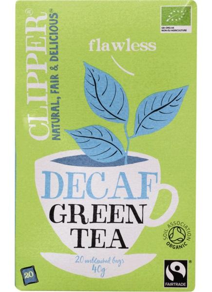 chá verde biológico, descafeínado, clipper