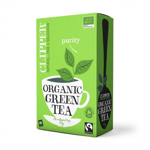 chá verde biológico, clipper