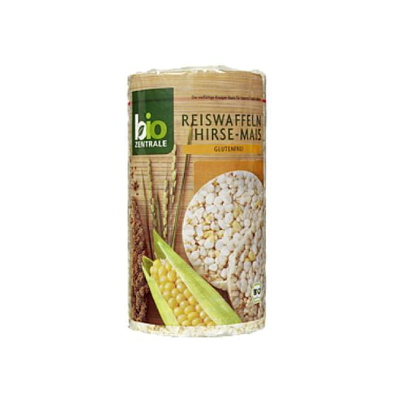 galetes arroz, milet e milho, sem glúten, biológicas