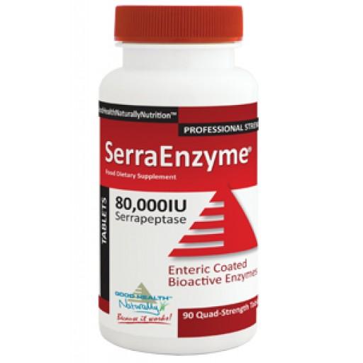 Serra Enzyme - serrapeptase 80.000 UI, 90 cápsulas