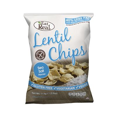 Snack de lentilhas, vegan, sem glúten - Eat Real