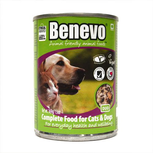 Alimento húmido vegetariano, cães e gatos