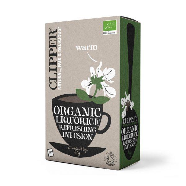 chá de alcaçuz, biológico, 20 saquetas, clipper