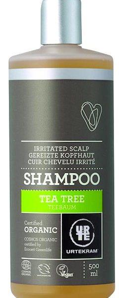 Champô tea tree, calmante, 500ml, Urtekram
