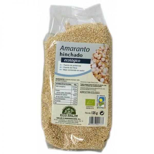 Cereais biológicos de amaranto tufado