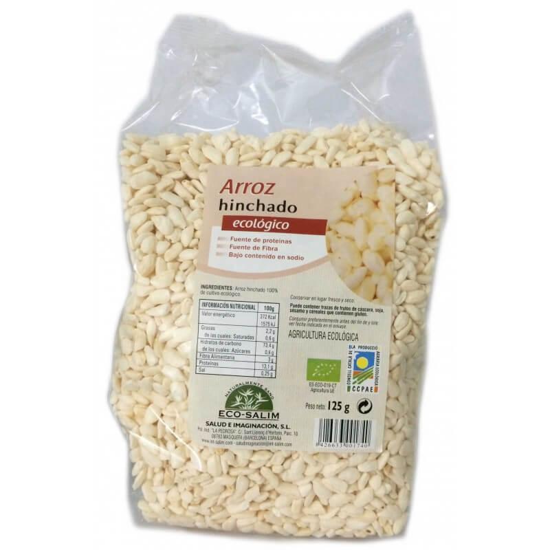 Cereais biológicos de arroz tufado