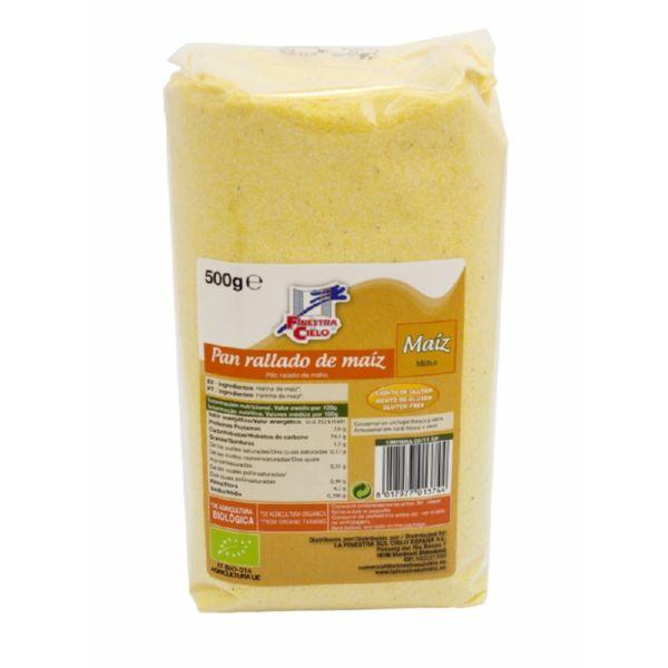 pão ralado, de milho, sem gluten, para panados