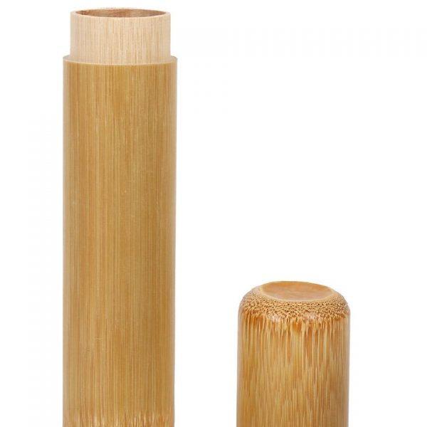 Caixa de viagem para escova de dentes, em bambu