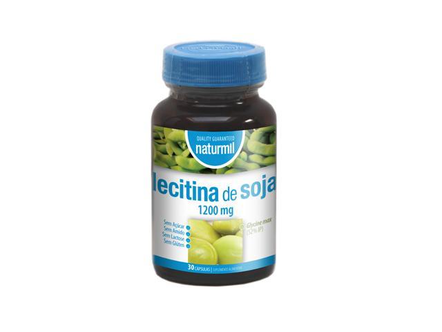 lecitina de soja 1200mg, 30 cápsulas, Naturmil