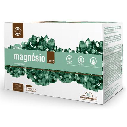 Magnésio Forte, 20 ampolas, 3000 mg, naturmil
