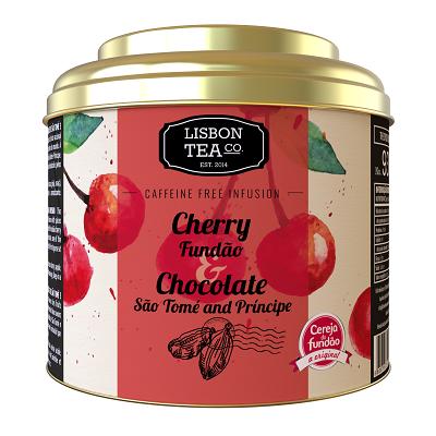 Chá cereja do Fundão e chocolate S.Tomé