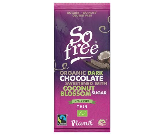Chocolate com açucar de côco, sem glúten, fairtarde