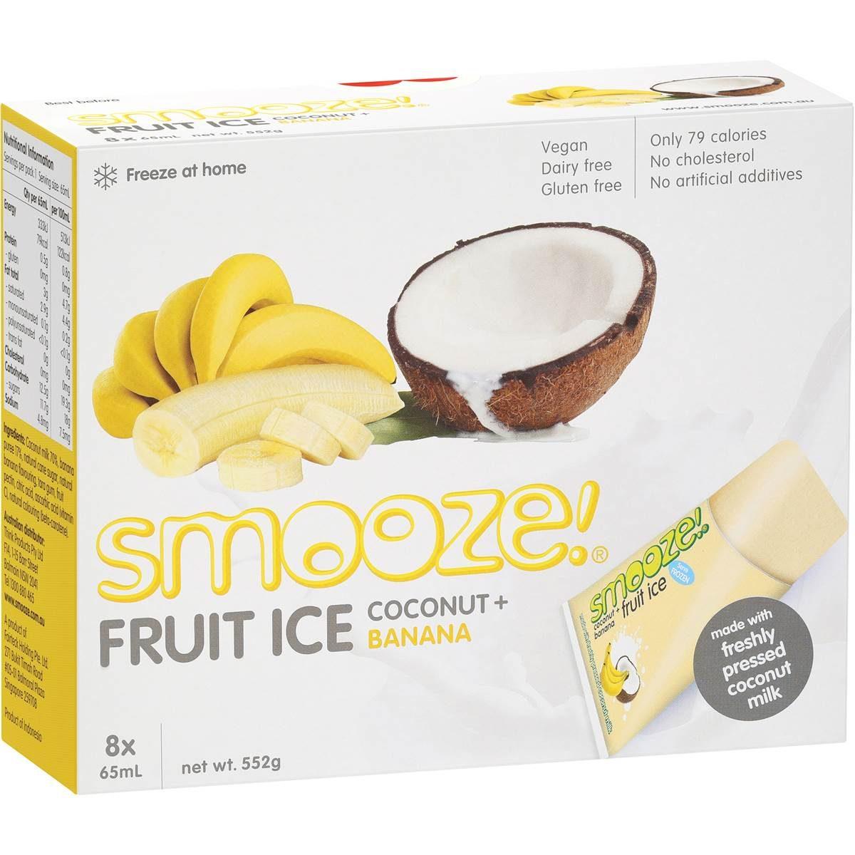 gelados vegan, sem glúten - coco e banana