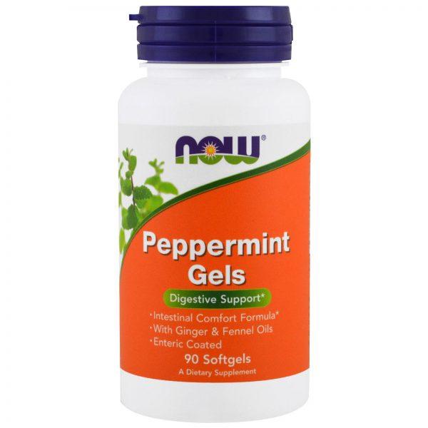 Peppermint (Hortelã Pimenta) Gels, 90 cápsulas, Now