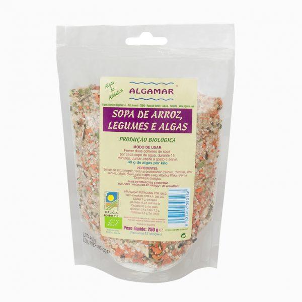 Preparado para sopa arroz, legumes e algas, bio