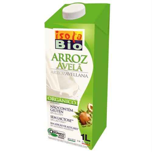 Bebida Arroz e Avelã bio, s/ glúten, 1L, Isola Bio