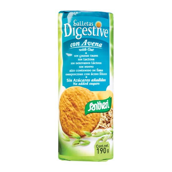 Bolachas Digestivas de Aveia, sem açúcar, Santiveri