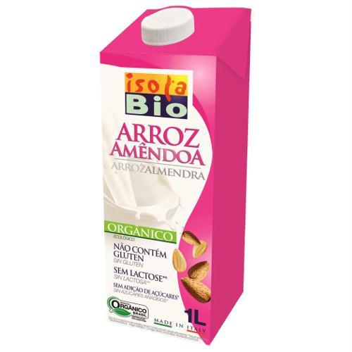 Bebida arroz amêndoa bio, s/ glúten, 1L, Isola Bio