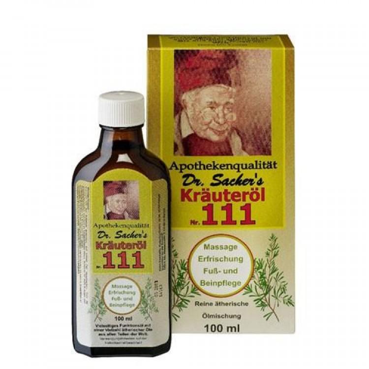 Dr. Sacher's Kräuteröl 111, com óleos essenciais